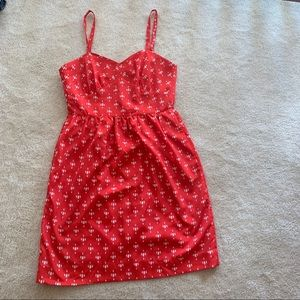 J. Crew Dresses - J crew red orange sun dress size 6